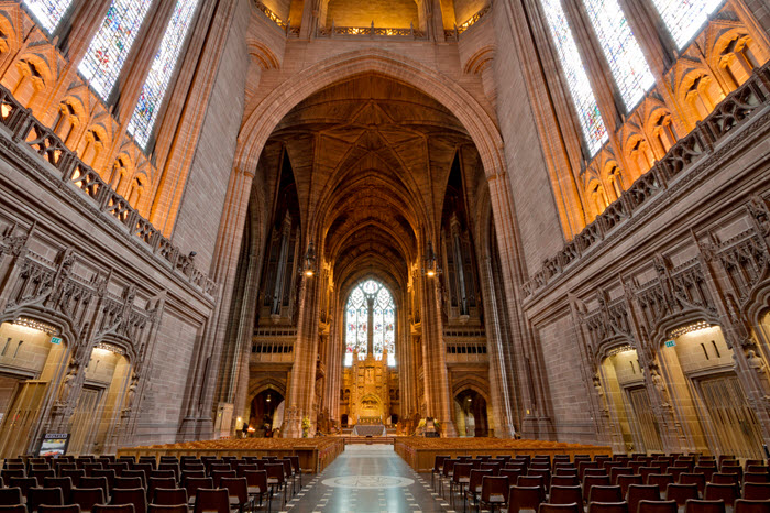 intérieur cathedrale anglicane liverpool